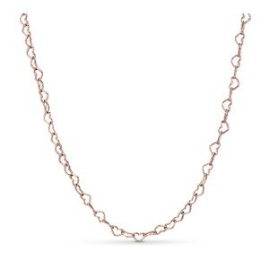 Pandora ROSE joined hearts necklace
